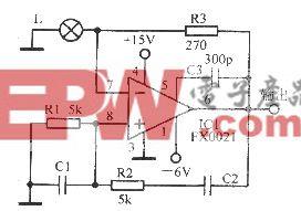 采用组件FX0021的功率振荡器