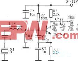 150~500kHz晶体振荡电路