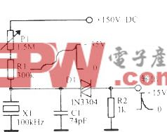 100kHz晶体二极管弛张振荡器