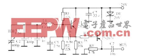 5MHz频率可调振荡电路