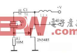 用结型场效应管组成的基本Pierce晶体振荡器