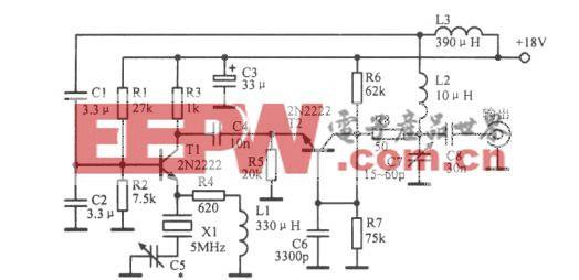 5MHz低噪声晶体振荡器