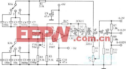 电压一频率连续可变文氏电桥音频振荡电路