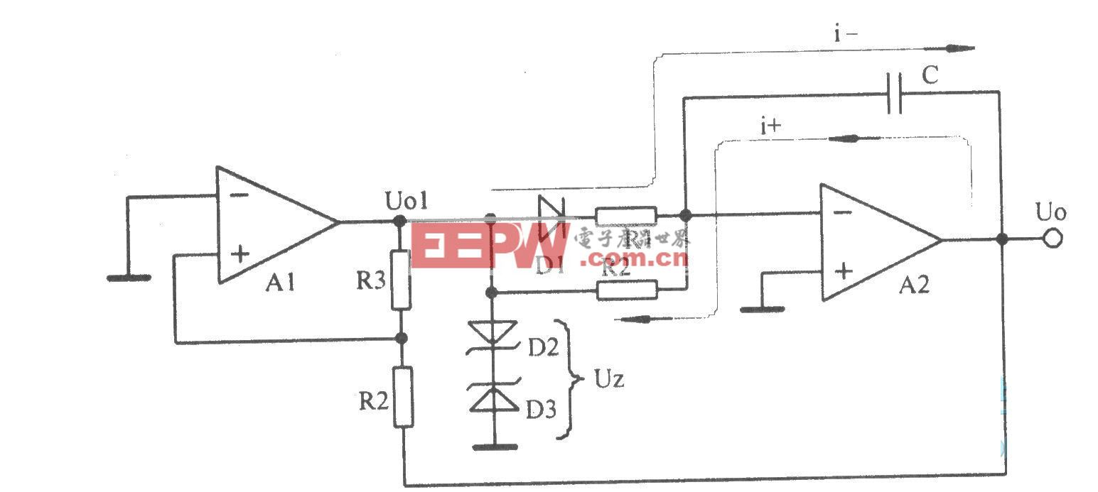 积分电路和比较器组成的锯齿波振荡器