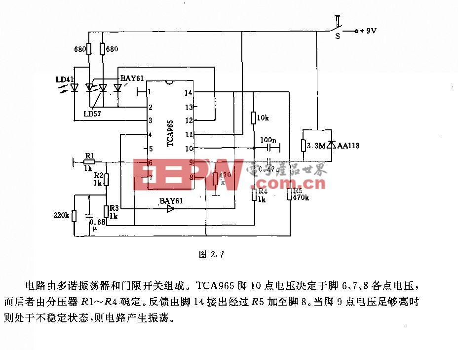 采用TcA965的门限信号发生器电路
