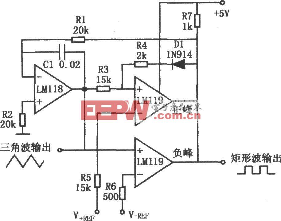 通用三角波产生电路 741 -其他信号产生器电路图图片