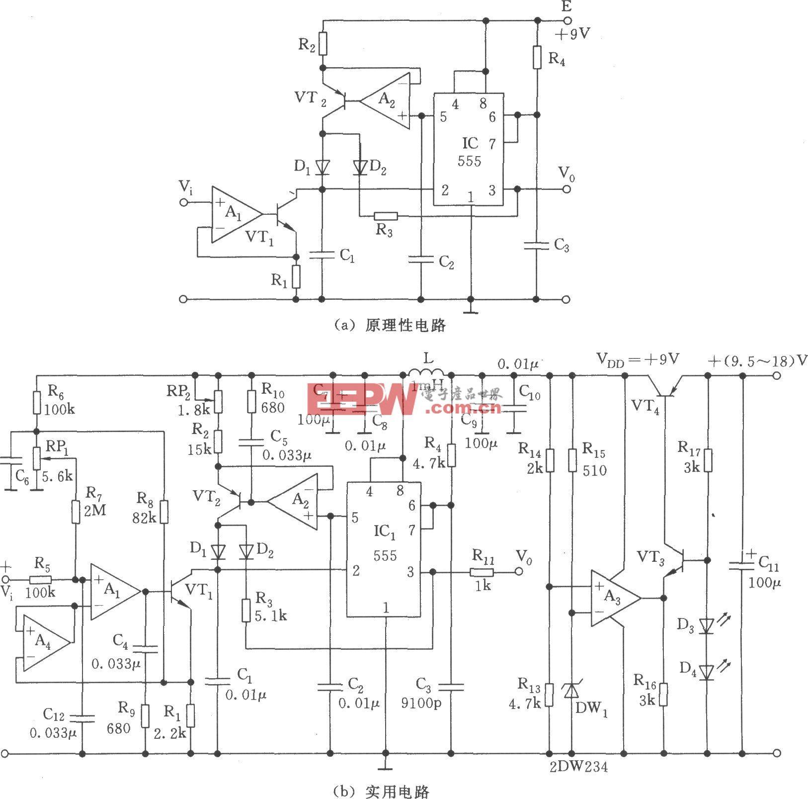 高精度线性电压/频率转换器(555)