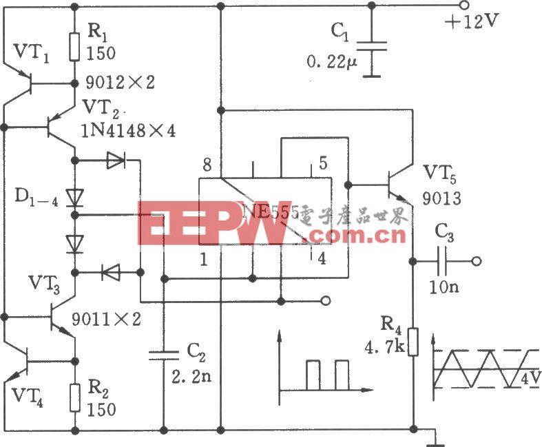 三角波、方波发生器电路(555)