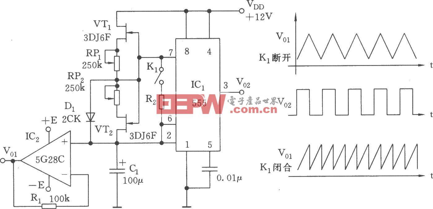 555构成的多种波形发生器(一)