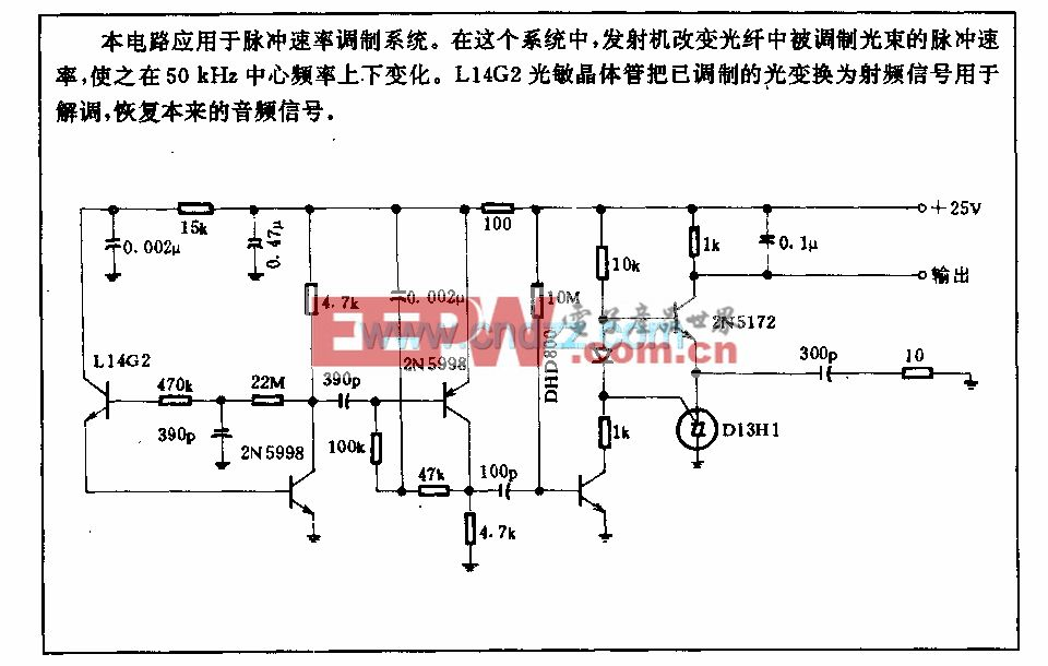 50kHz調頻光接收電路
