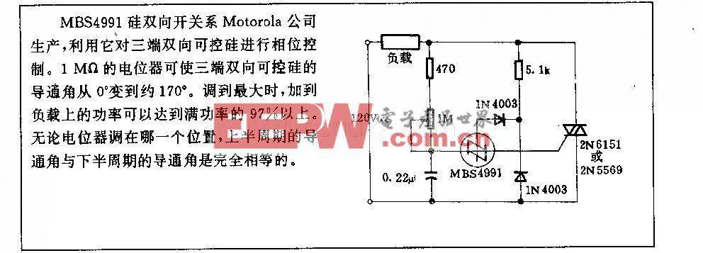 800 w三端双向可控硅减光电路