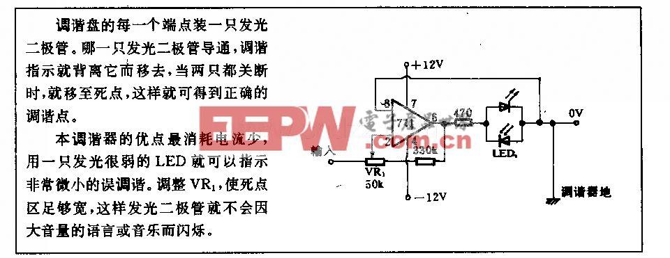發光二極管調諧指示電路