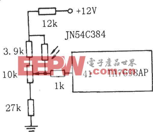 由光敏电阻组成的电视自动亮度调节电路图