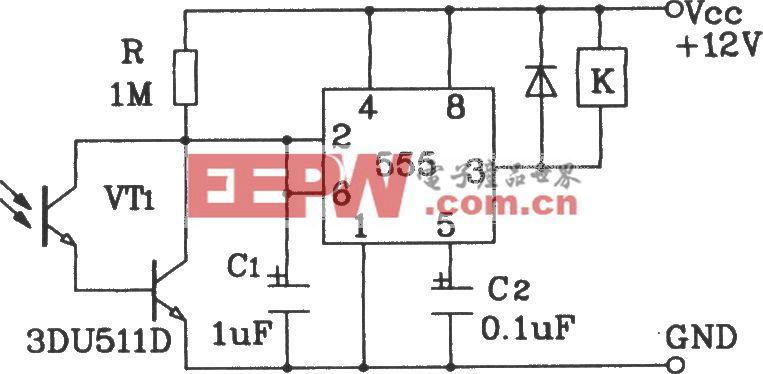 达林顿型光敏三极管灵敏光控开关应用电路