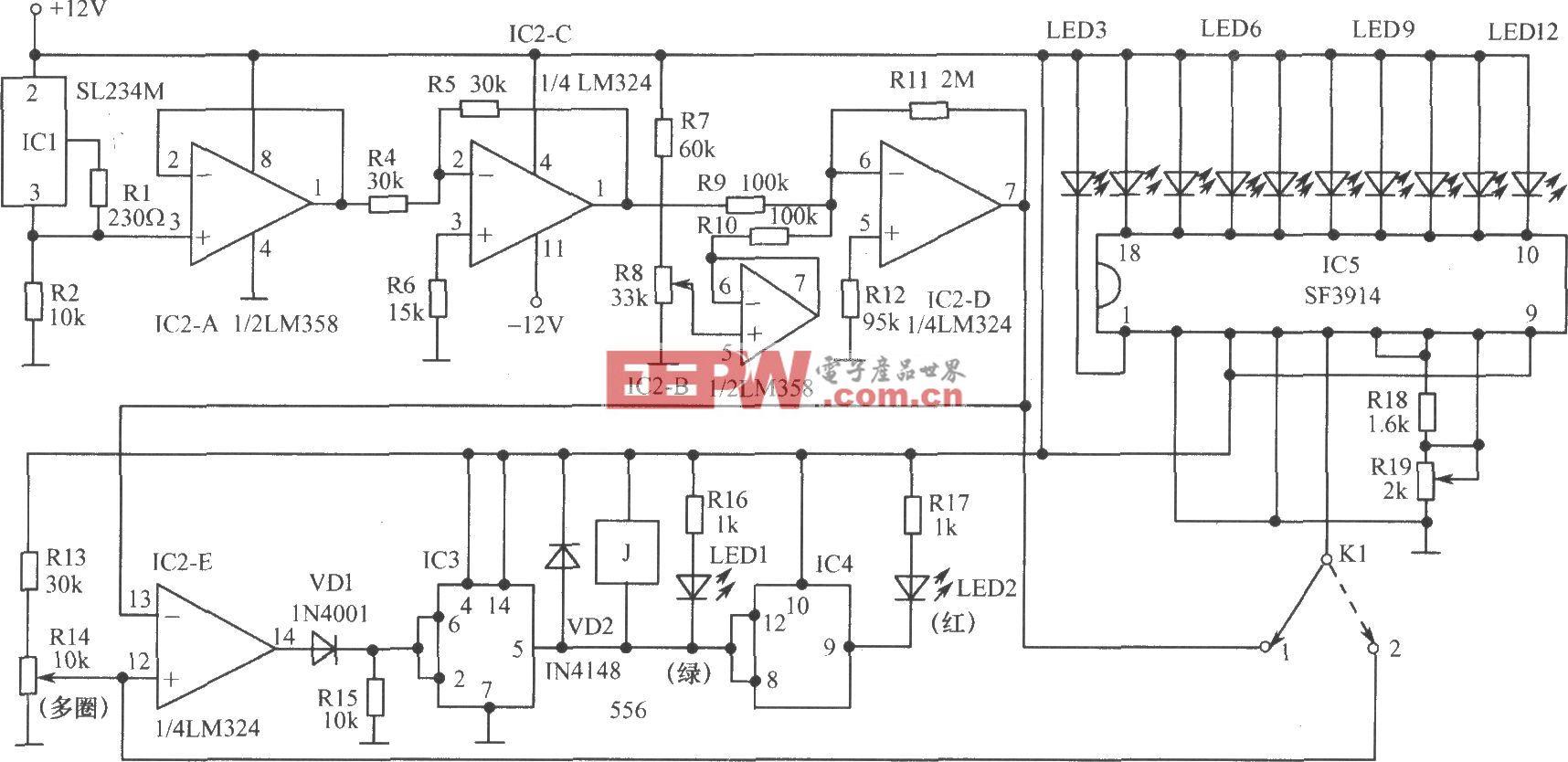 模拟温度控制器电路