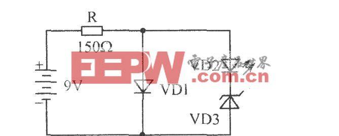 双发光二极管交替闪烁器电路