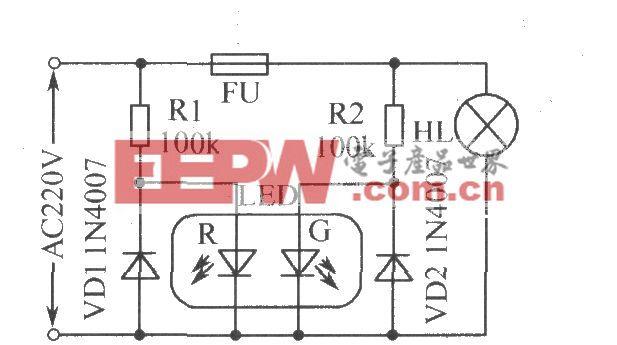 保险丝熔断指示电路
