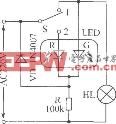 交流電源工作狀態指示電路