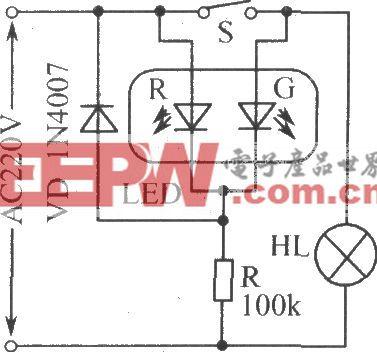 電源工作狀態指示電路