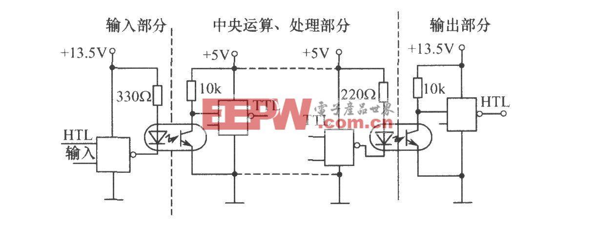 利用光电耦合器的计算机接口电平匹配