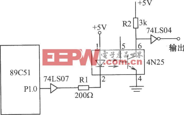 光电耦合器组成的接口电路