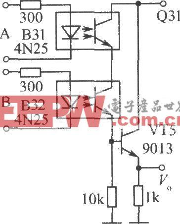 """光電耦合器組成的""""與門""""邏輯電路"""