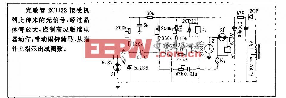 电线自动成圈机计数电路