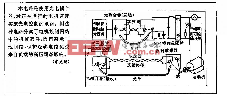 电机速度光电控制电路