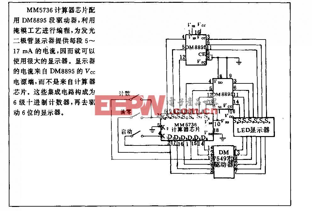 大型发光二极管显示电路