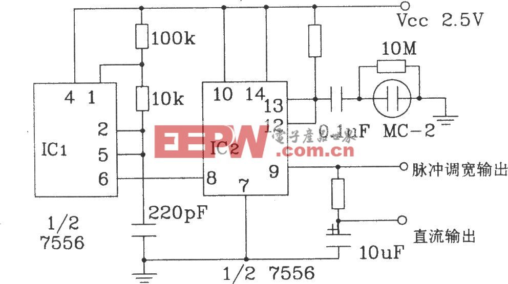 MC-2电容式湿敏元件应用电路