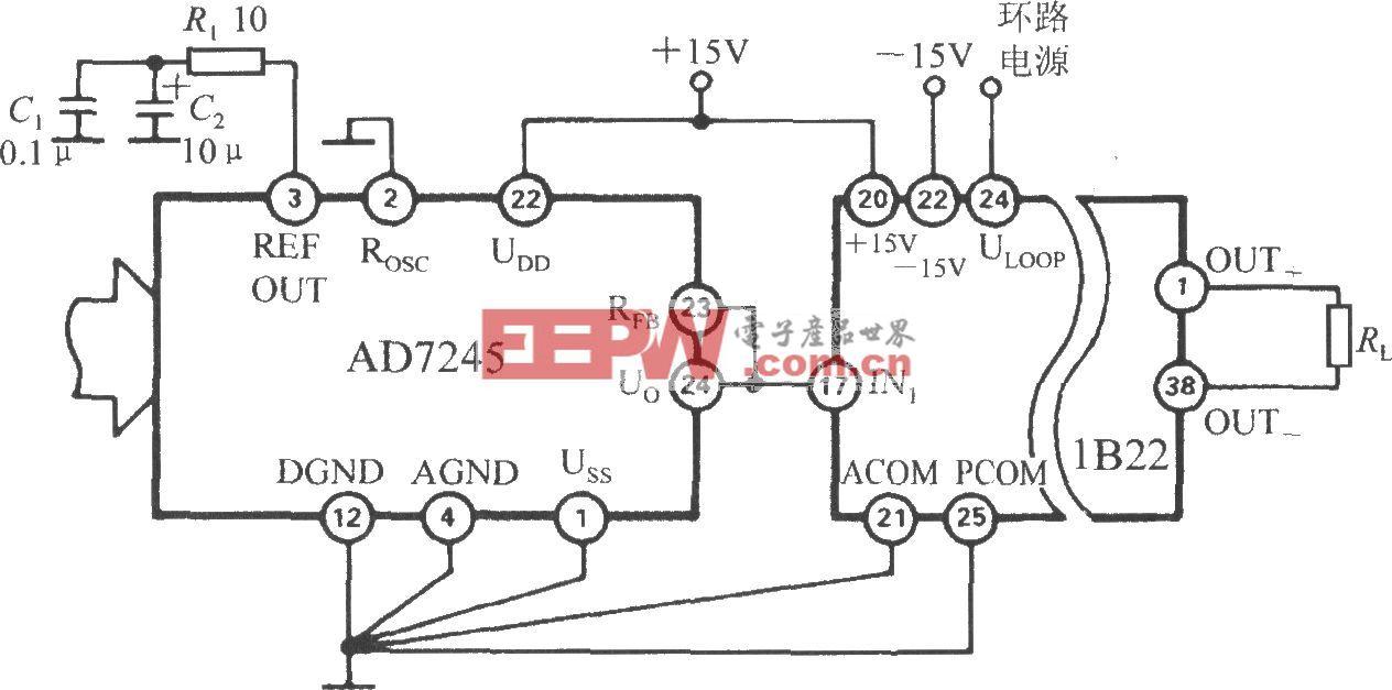 D/A轉換器的電流環接口(隔離式可編程電壓/電流傳感器1B22)
