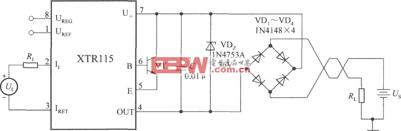 精密電流變送器XTR115的保護電路