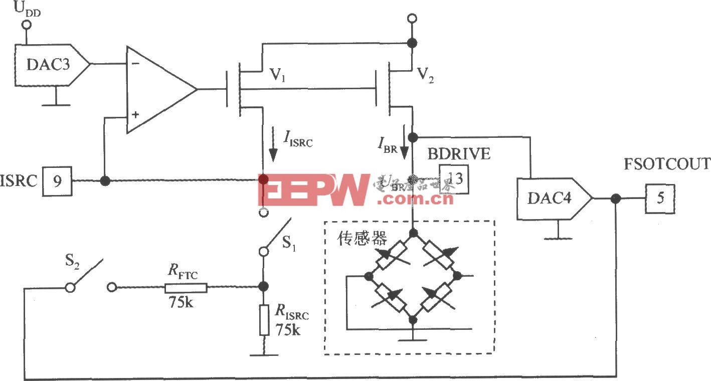 數字式壓力信號調理器MAX1458的電橋激勵電路