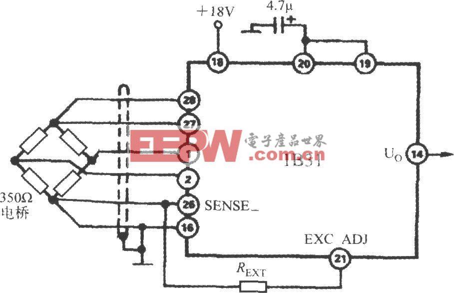 提升激励电压的电路(宽带应变信号调理器1B31)