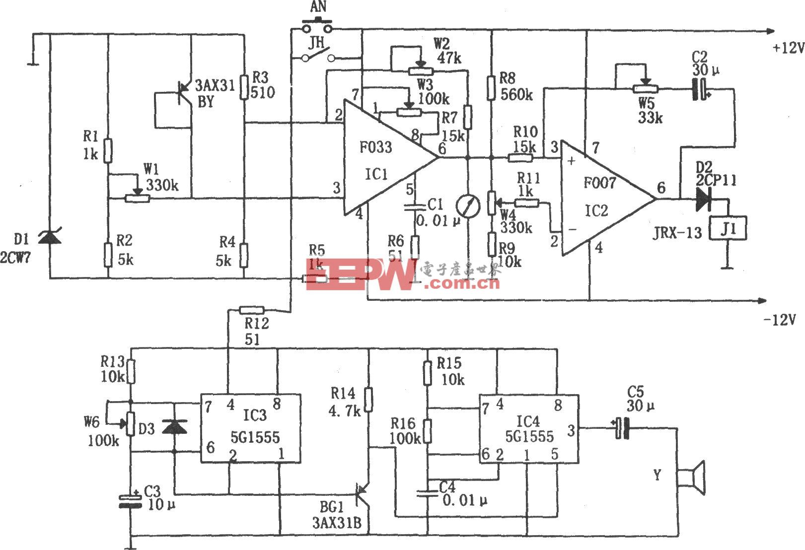 库房温度测量报警器(F007、5G1555、F033)