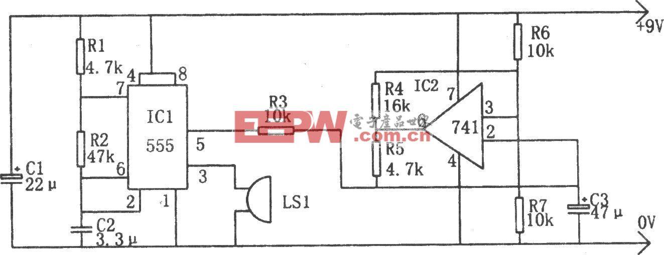 扫频报警器(555、741)