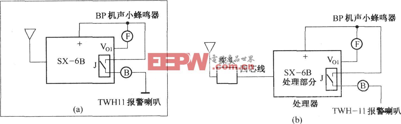 SX-6型人体感应开关应用电路