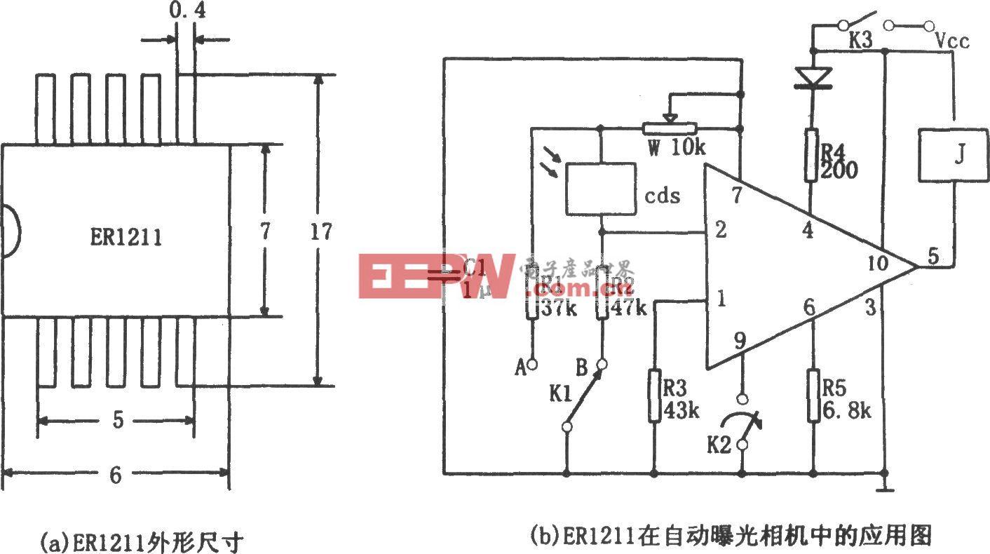 用ER1211专用集成电路作自动曝光控制器电路