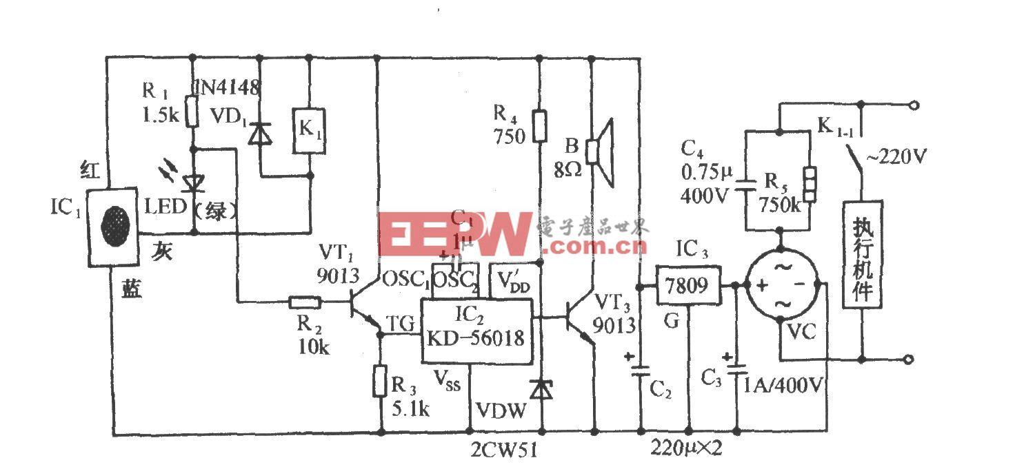 压电式高料位自动控制及报叫电路