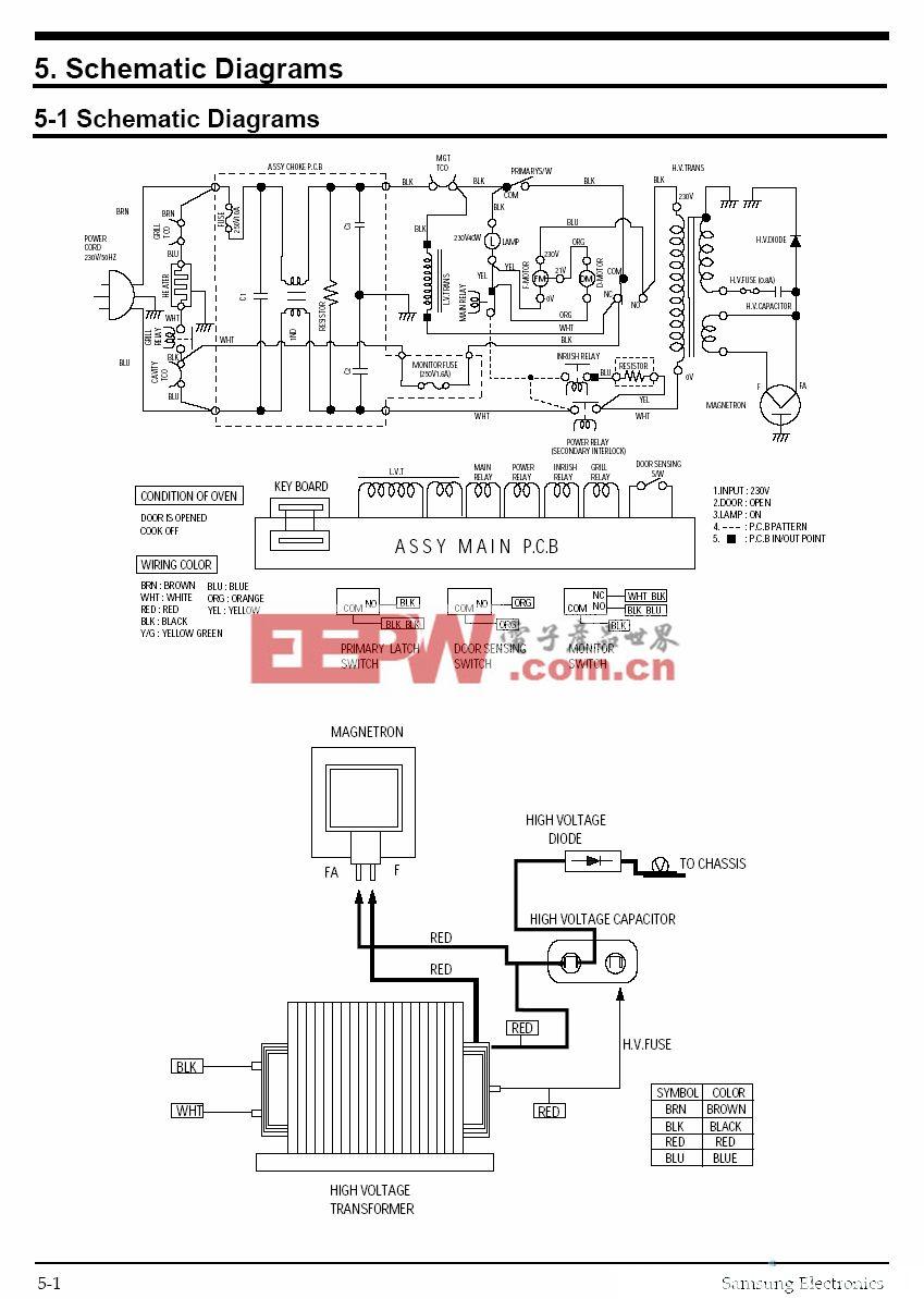 三星CE959微波炉电路