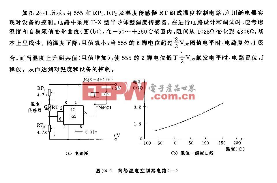 555簡易溫度控制器(一)