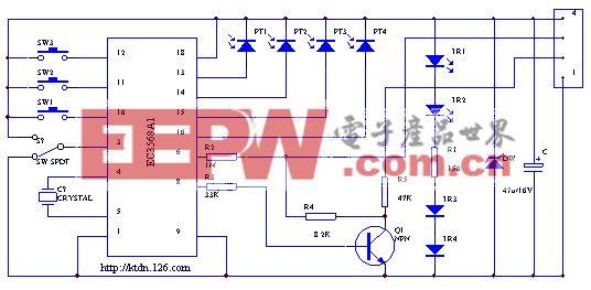 鼠标的电路原理图