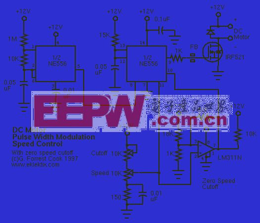 脉宽调速微电机调速电路