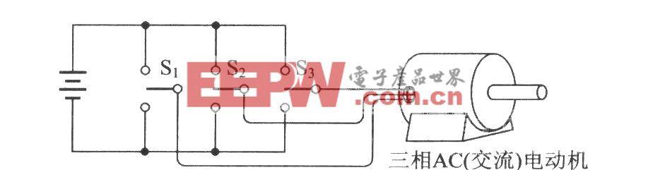 逆变器与三相电动机的连接