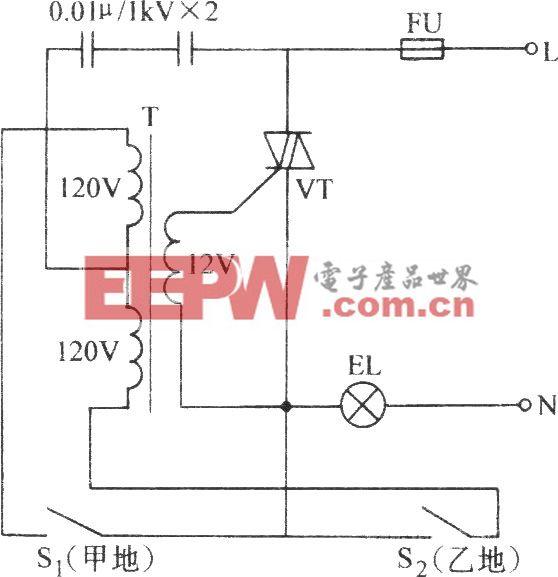 電子雙聯開關電路