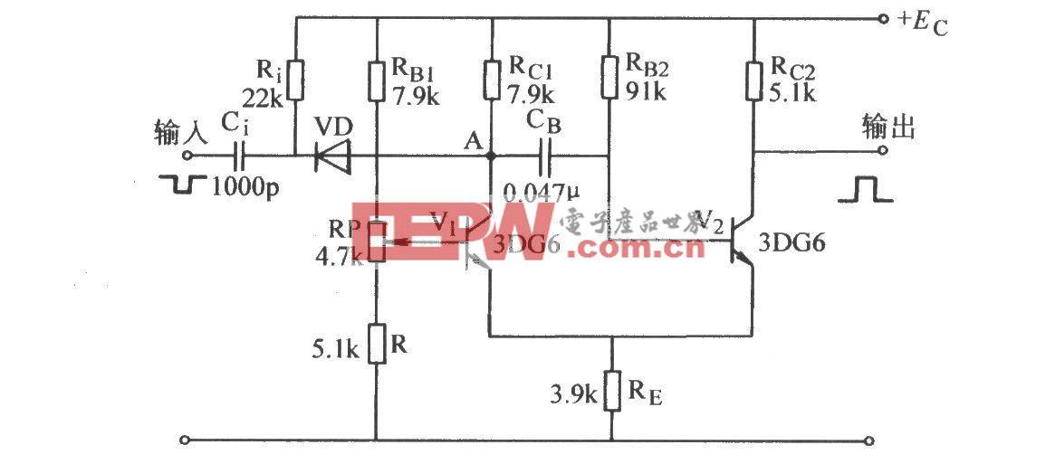 射极耦合单稳态电路