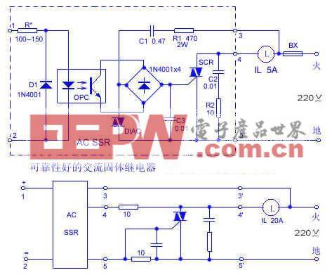 可靠性好的交流固体继电器电路