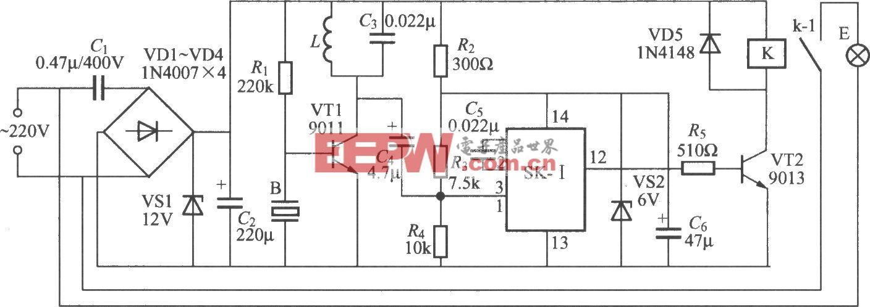 亚超声遥控灯开关电路(1)