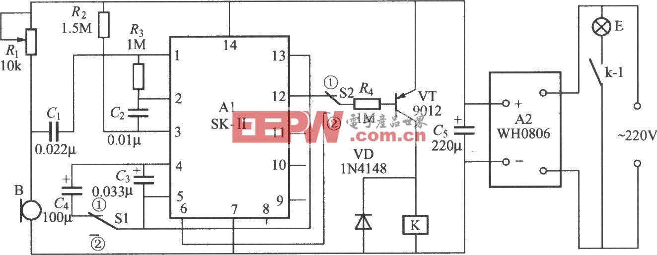 两用声控灯开关电路(SK-II)