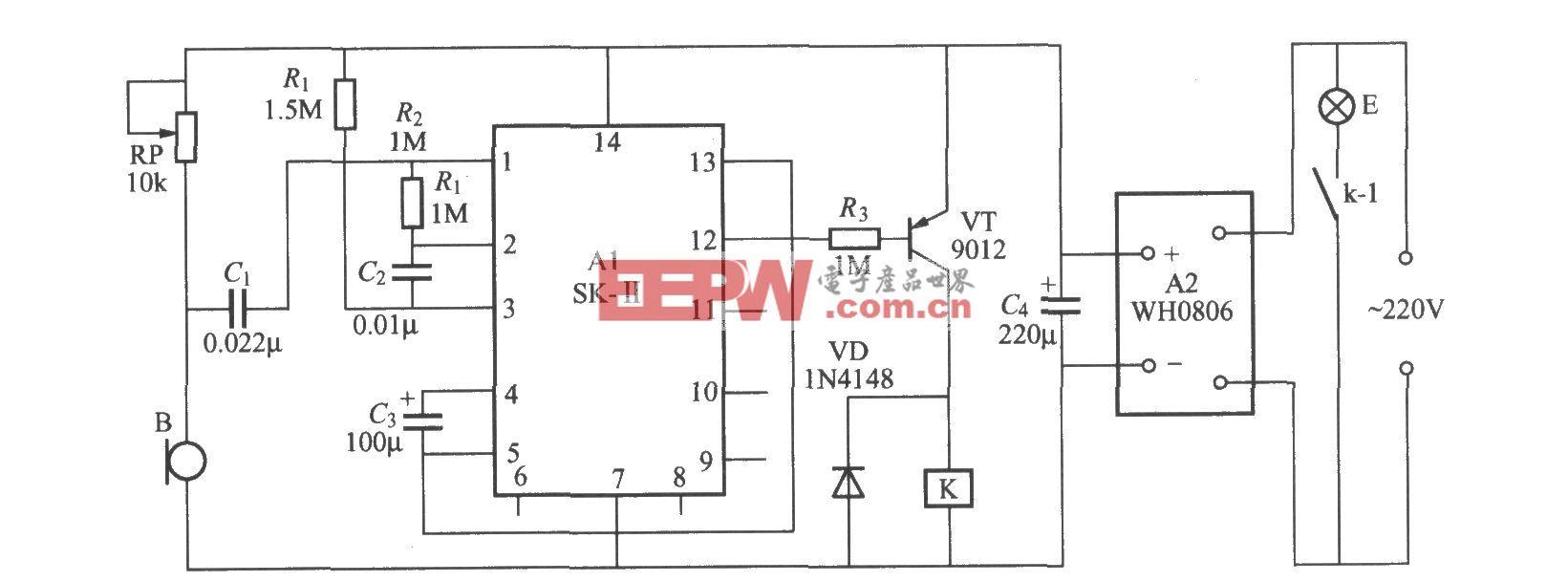 声控延迟灯开关电路(2)